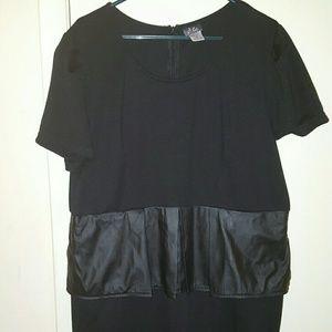 Dots Dresses & Skirts - (L)eather peplum dress