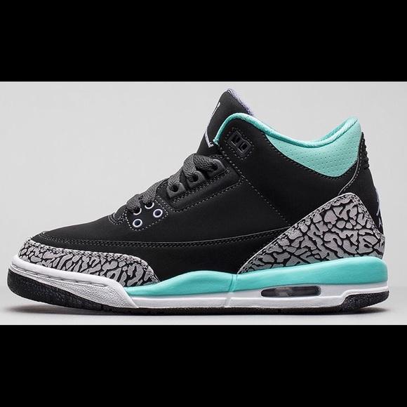 Nike Shoes Air Jordan 3 Retro Gs Bleach Turquoise Poshmark
