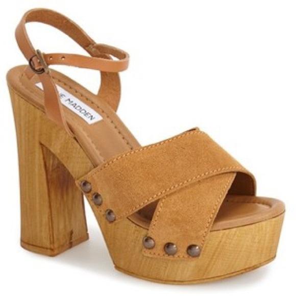 "82% off Steve Madden Shoes - Steve Madden ""LIA"" wooden platform ..."