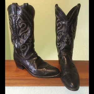 Dan Post genuine lizard cowboy boots, size 9.5