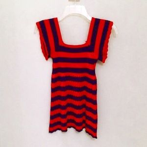 Anthropologie Striped Knit Top