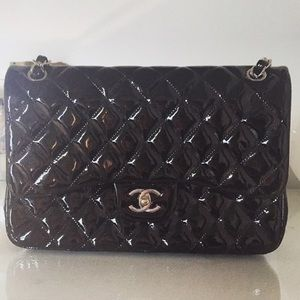 Chanel black patent leather bag. Like new.
