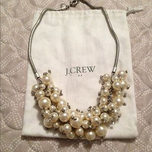 J Crew pearl cluster necklace