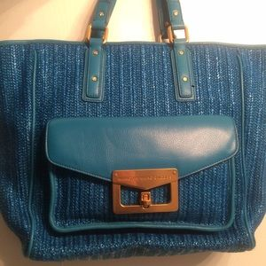 Marc by Marc Jacobs Blue Straw Tote