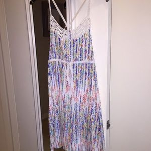 Grane Dresses & Skirts - White summer dress with crochet trim and straps