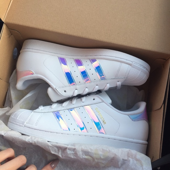 new product 172fa f22d0 Adidas holographic superstar