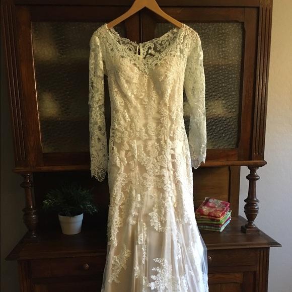 Maggie Sottero Champagne Wedding Dress