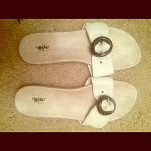 Mossimo White Sandals