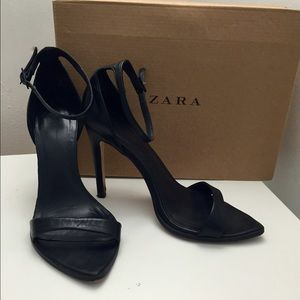 2d8061ef565 Zara Shoes - ZARA leather minimalist barely there heels
