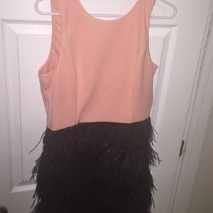 Cute Slate & Willow Backless Dress w/Feathers