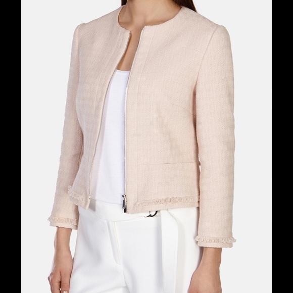 b31621d2d12de Karen Millen Jackets   Blazers - Karen Millen Fringe Tweed Jacket