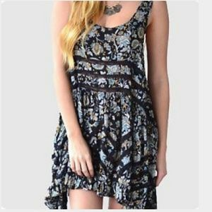 Free People Dresses & Skirts - Free People Floral Paisley voile lace slip dress