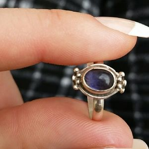 Vintage Sterling Silver Amythyst Ring