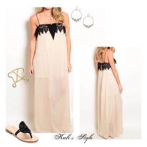 April Spirit Dresses & Skirts - 💸SALE💸 Lace detail maxi dress