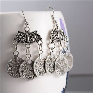 Coin dangle earrings