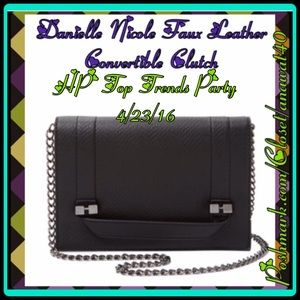 Danielle Nicole Handbags - HP Danielle Nicole Faux Leather Convert Clutch