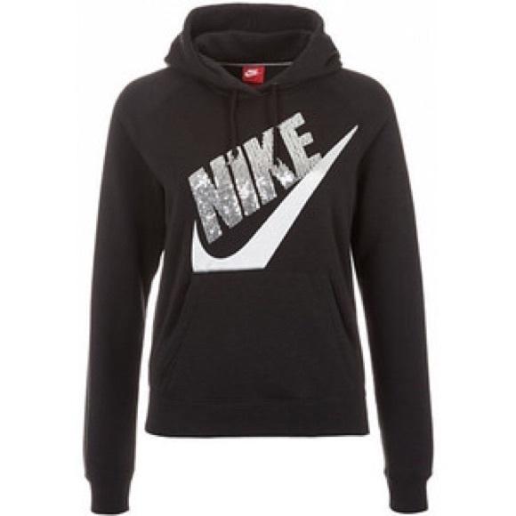 0136d568129b Nike Sequin Hoodie - Black. M 56d51d3901985ef1150085f7