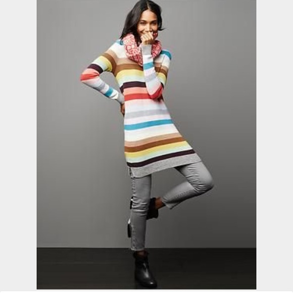 9e9358e77 GAP Dresses | Crazy Stripe Sweater Dress | Poshmark