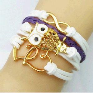 Jewelry - 3/$25 Owl infinity bracelet
