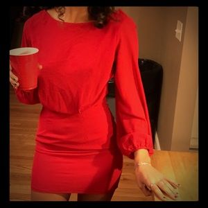 Red dress from Tobi, never worn.