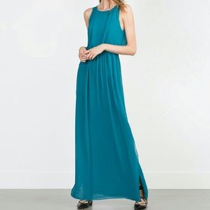 Pretty turquoise long dress for spring/ summer