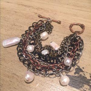 Mixed metals bracelet