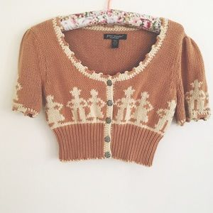 Betsey Johnson Sweaters - Vintage Betsey Johnson Cowboy Crop Sweater