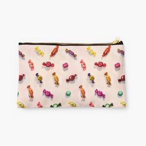 Bags - Candy Print Canvas Clutch!