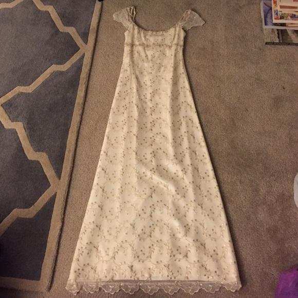 Jessica McClintock Dresses | Ivory Empire Waist Wedding Dress | Poshmark
