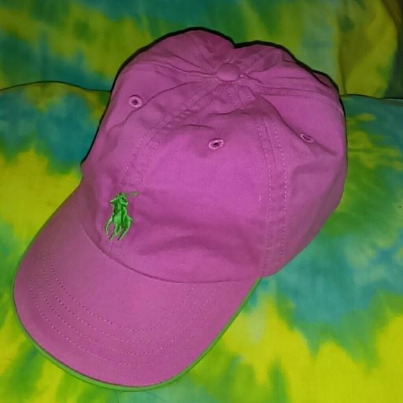 d503735e7 Polo Ralph Lauren Baseball Hat Pink & Green