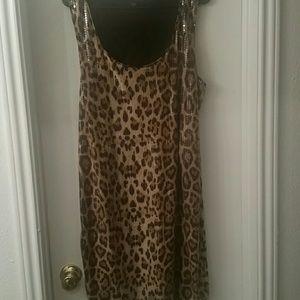 Sequin Animal  print dress