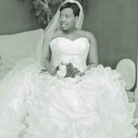 Davids Bridal Dresses Organza Ball Gown Wedding Dress Poshmark