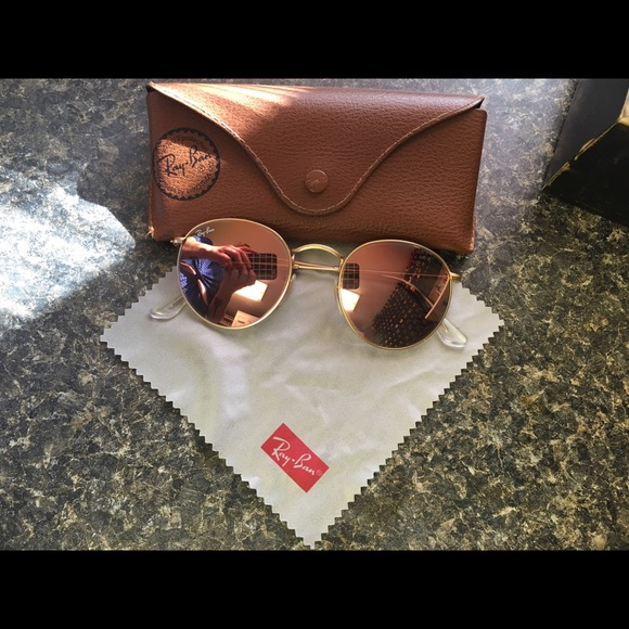 Ray Ban Round Metal Rose Gold Gasthofbahra De