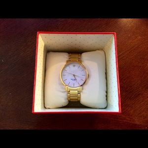 New authentic Kate Spade Gramercy Gold Watch