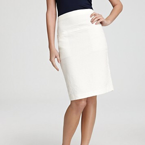 69% off Theory Dresses & Skirts - Theory Clea White Stretch Cotton ...