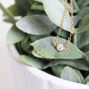 LucyMint Jewelry - Mini Starlight Necklace || Cubic Zirconia