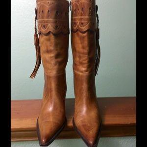 Charlie 1 Horse tan fashion cowboy boots, 9 B