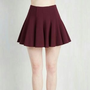 Modcloth Skirt in Bordeaux