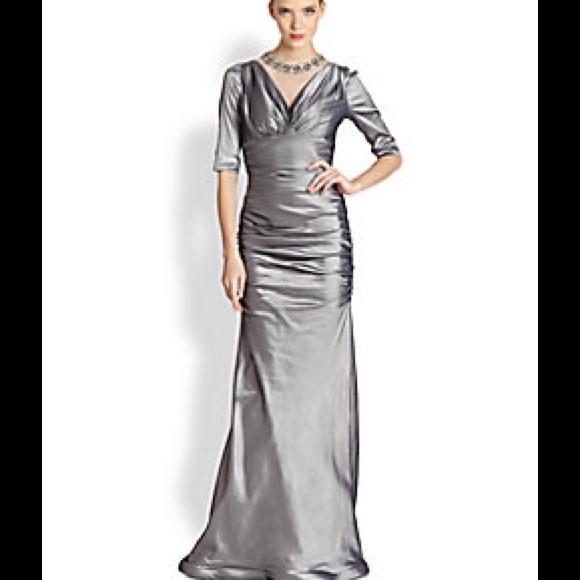 Teri Jon Dresses | Formal Gown Gorgeous Necklace Attached | Poshmark