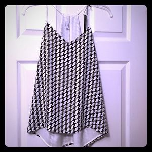 NWT Reversible express tank, black and white