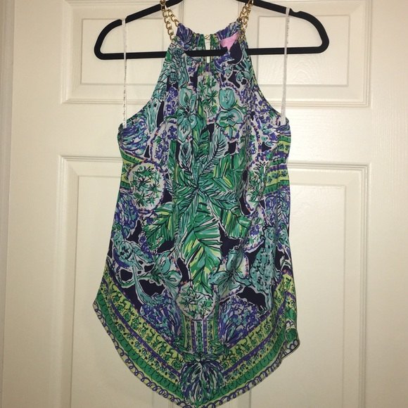 58% off Lilly Pulitzer Tops - Lilly Pulitzer Escape Artist Top, XS ...