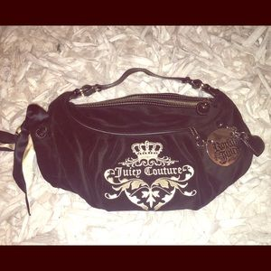 Juicy Couture black velvet purse