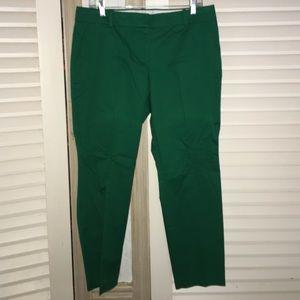 Green J. Crew capris pants on Poshmark