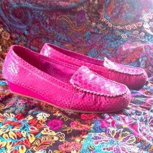 AJ Valenci Shoes - ☮️ Pink leather loafers