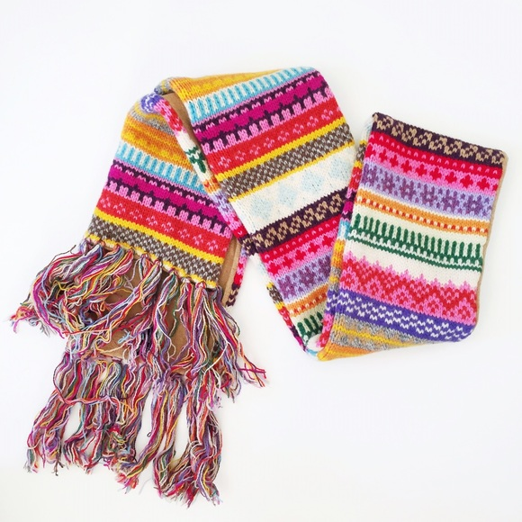 38% off GAP Accessories - GAP Fair Isle Multicolored Wool Scarf ...