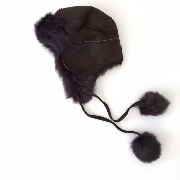 ce05b35f25c33 NWT J.Crew Toscana Shearling Trapper Hat Brown NWT