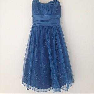 Adorable Glitter Blue Dress