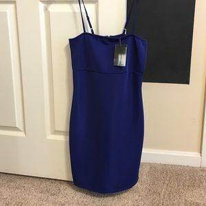 urban outfitters brand new deep blue dress