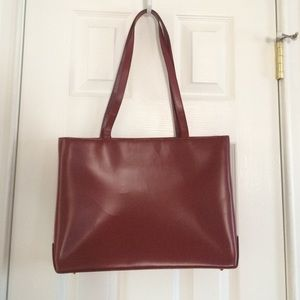 Dark Red Structured Bag