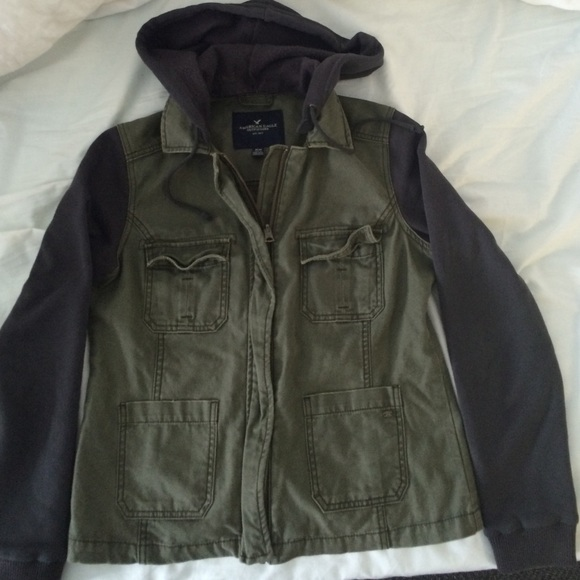 American eagle womens military jacket